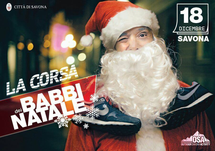 Torna a Savona la corsa dei Babbi Natale Upasv